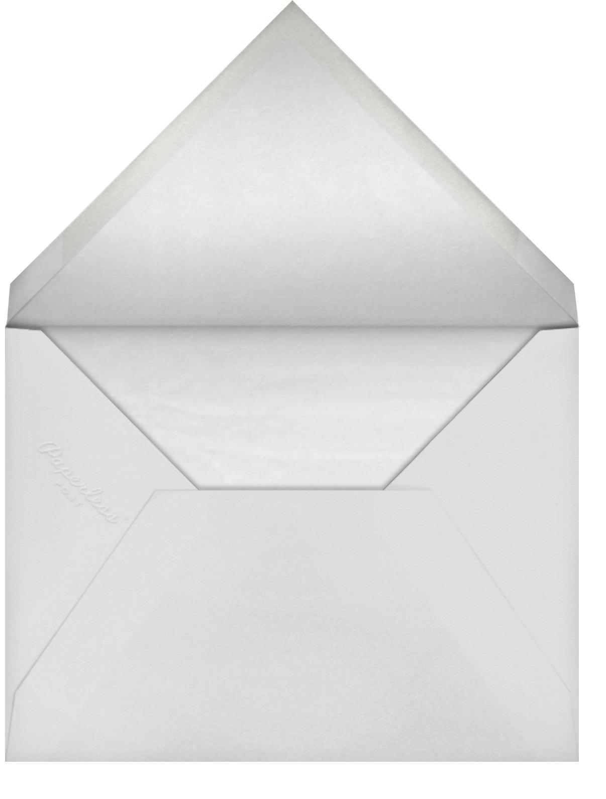 Heirloom Lace (Invitation) - Blue - Oscar de la Renta - Envelope