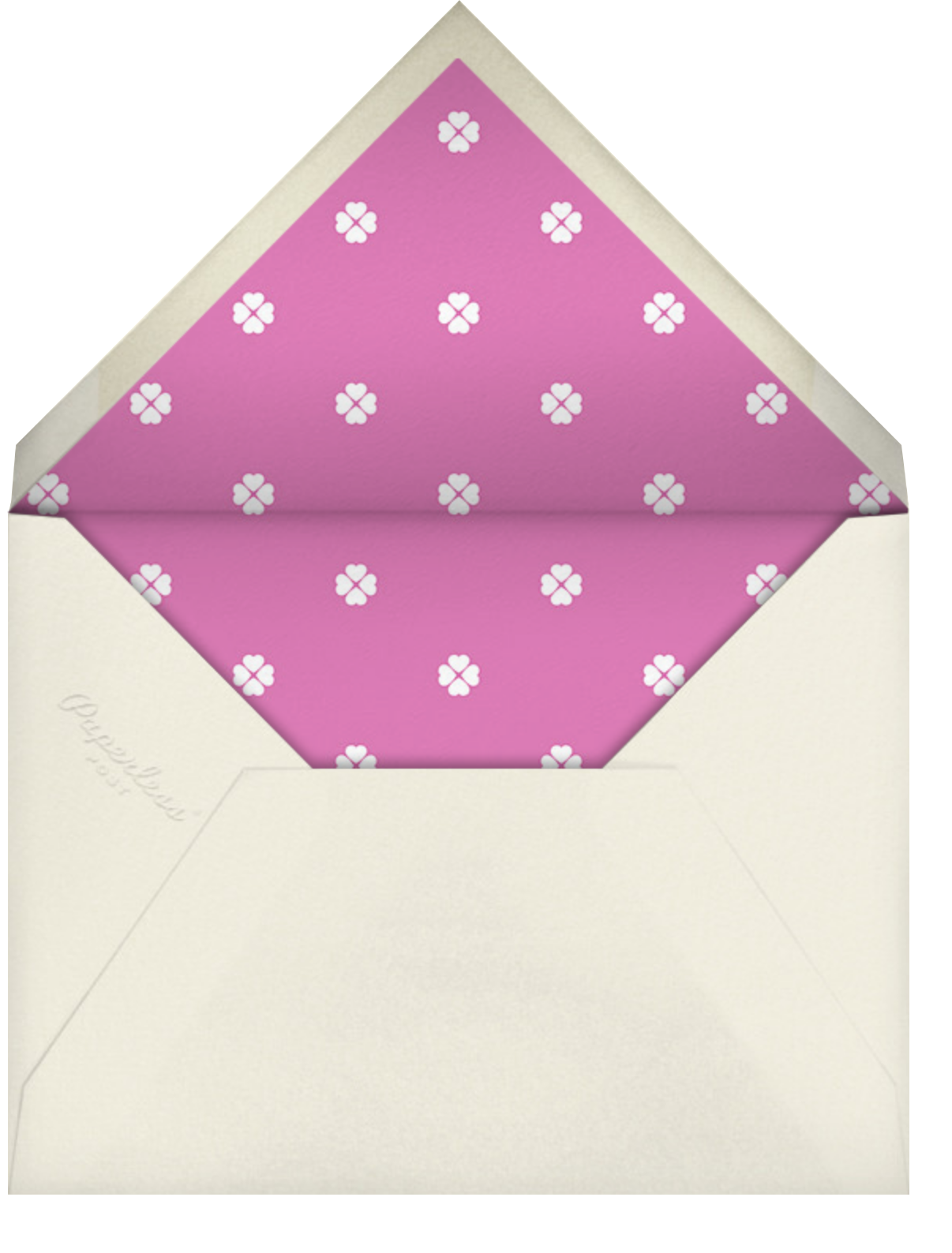 Rosy Dreams - Cream - kate spade new york - Bridal shower - envelope back
