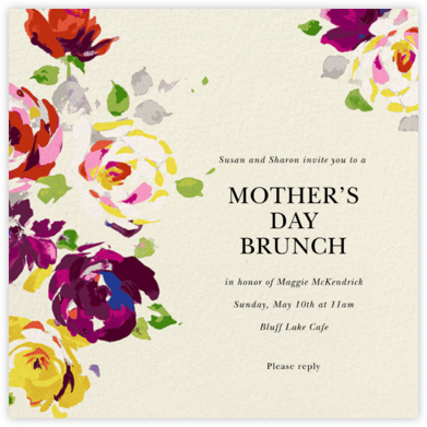 Rosy Dreams - Cream  - kate spade new york - Online Mother's Day invitations