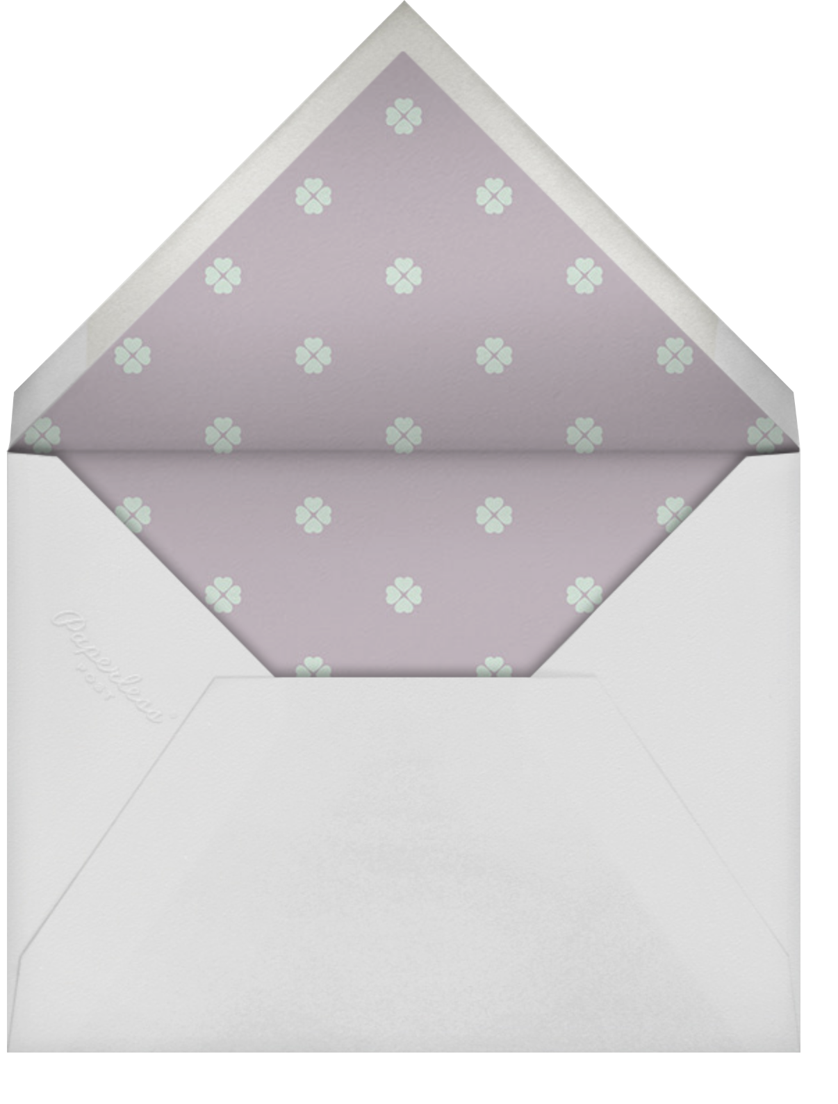 Rosy Dreams - Pistachio - kate spade new york - Bridal shower - envelope back