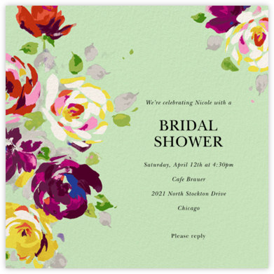 Rosy Dreams - Pistachio - kate spade new york - Bridal shower invitations
