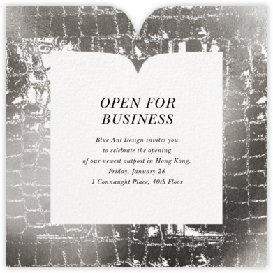 Glam Croc - Silver - kate spade new york - Business event invitations