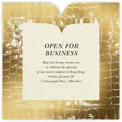 Glam Croc - Gold - kate spade new york - Business event invitations