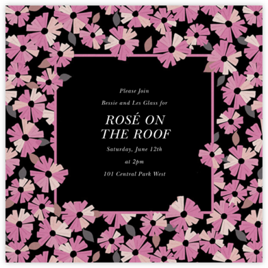 Daisy Field - Mauve - kate spade new york - Happy Hour Invitations