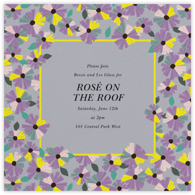Daisy Field - Lilac - kate spade new york - Happy Hour Invitations