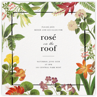 Tropical Garden - Oscar de la Renta - Business Party Invitations
