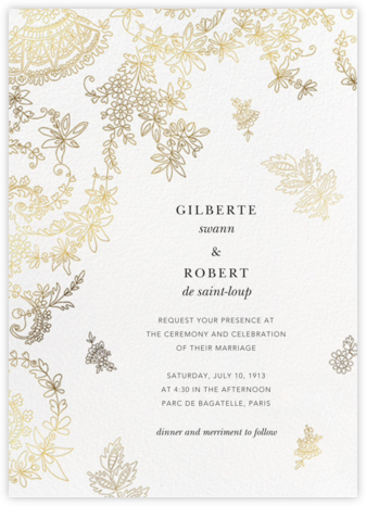 Floral Filigree (Invitation) - Oscar de la Renta - Wedding Invitations