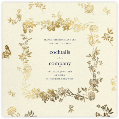 Royal Botanical - Cream - Oscar de la Renta - Dinner Party Invitations