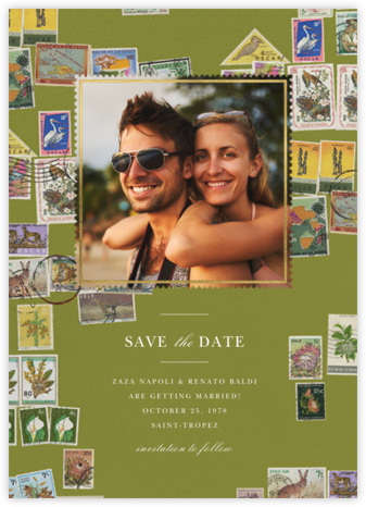 Stamped - Olive - Oscar de la Renta - Save the dates
