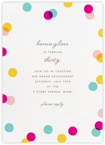 Carnaby (Tall) - Multi - Paperless Post - Birthday invitations