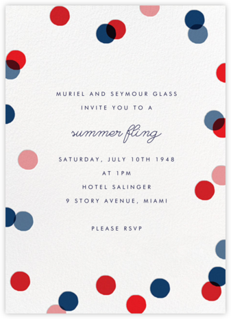 Carnaby (Tall) - Red/Blue - Paperless Post - Online Party Invitations