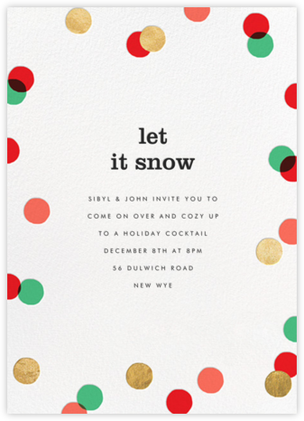 Carnaby (Tall) - Red/Green - Paperless Post - Holiday invitations