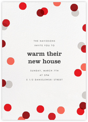 Carnaby (Tall) - Red - Paperless Post - Celebration invitations