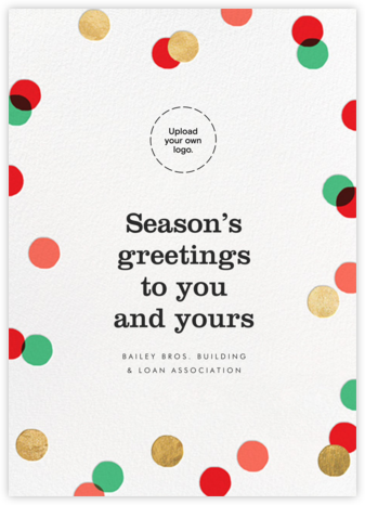 Carnaby (Tall) - Red/Green - Paperless Post - Company holiday cards