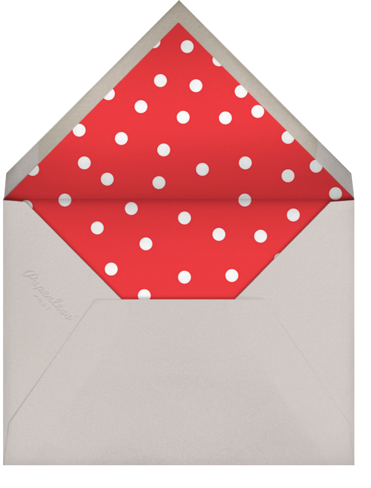 Carnaby (Tall) - Red - Paperless Post - Envelope