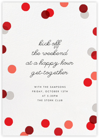 Carnaby (Tall) - Red - Paperless Post - Happy Hour Invitations