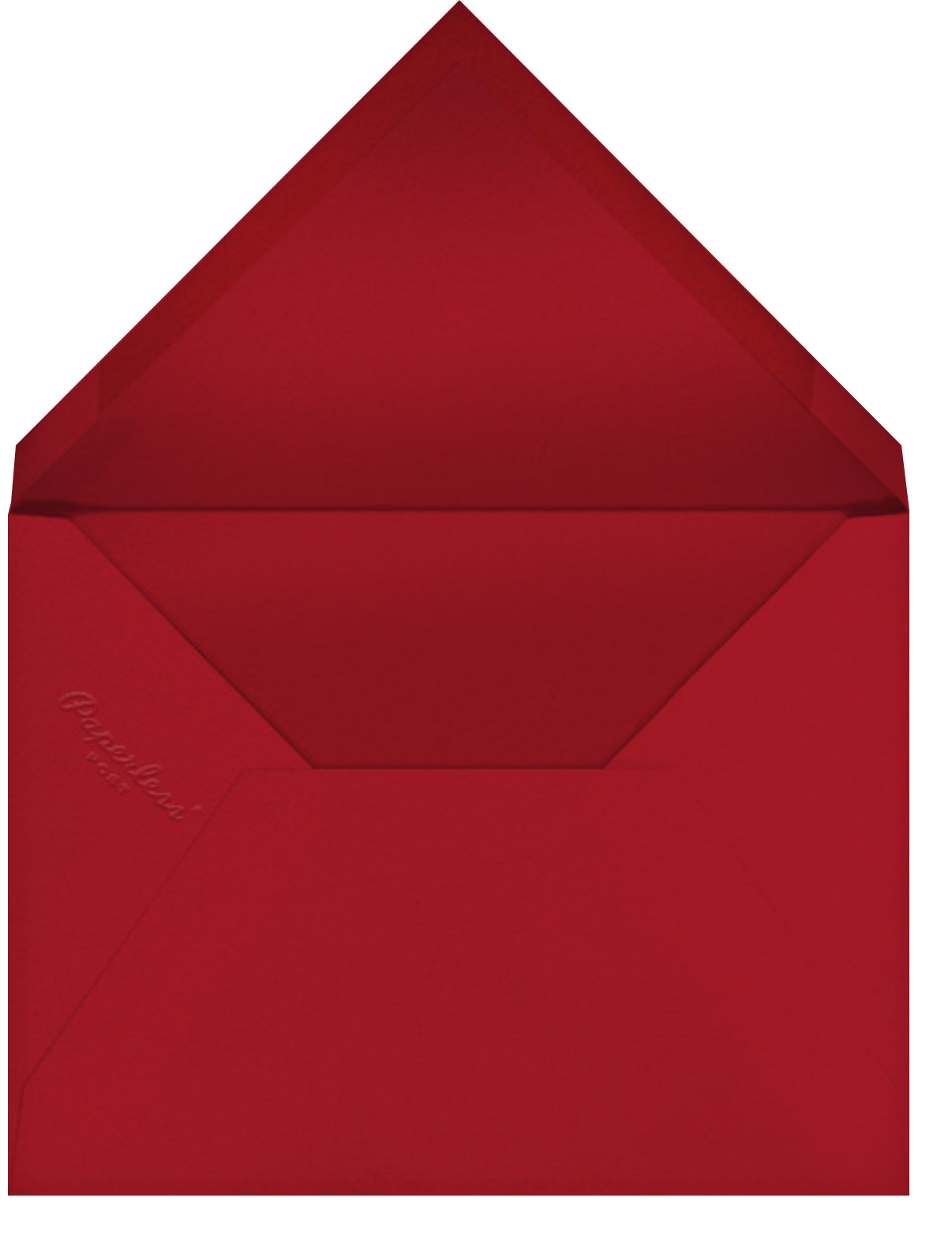 Carnaby (Tall) - Red - Paperless Post - Canada Day - envelope back