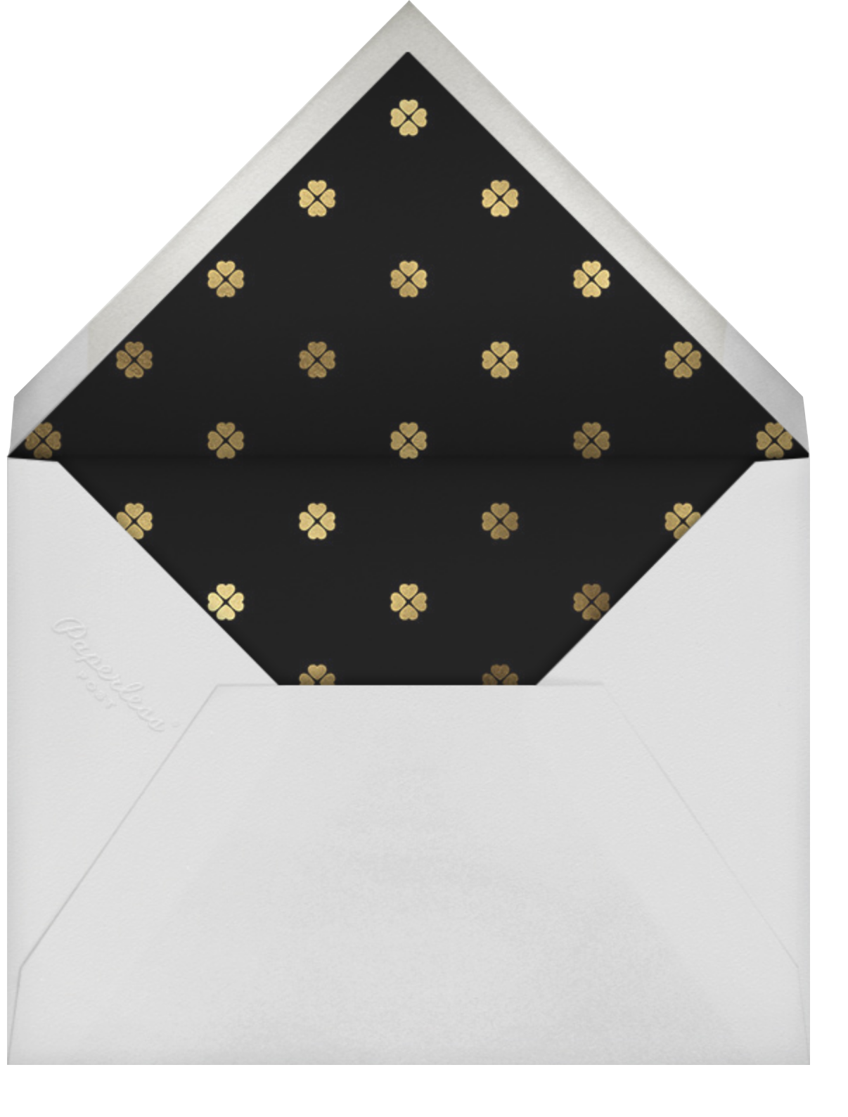 Let's Groove - Black - kate spade new york - New Year's Eve - envelope back