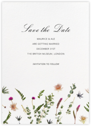 Fleurs Sauvages (Tall) - Save the Date