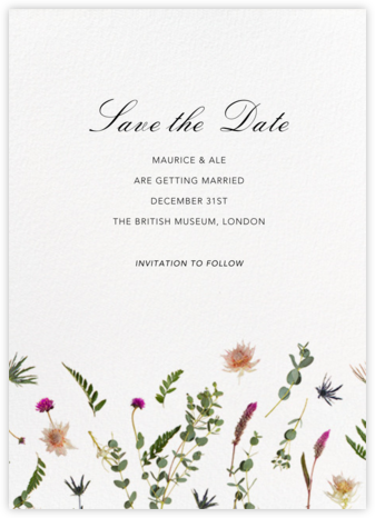 Fleurs Sauvages (Tall) - Save the Date - Paperless Post - Wedding Save the Dates