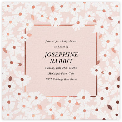 Daisy Field - White - kate spade new york - Baby Shower Invitations