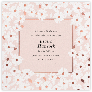 Daisy Field - White - kate spade new york - Bachelorette party invitations