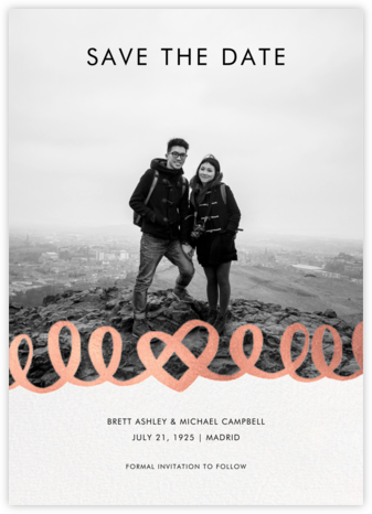 Love Doodle - Rose Gold - kate spade new york - Photo save the dates
