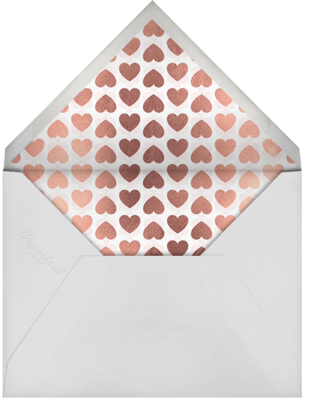 Love Doodle - Rose Gold - kate spade new york - Valentine's Day - envelope back