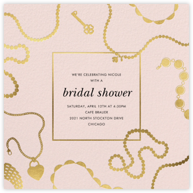 Precious Metal - Meringue - kate spade new york - Bridal shower invitations