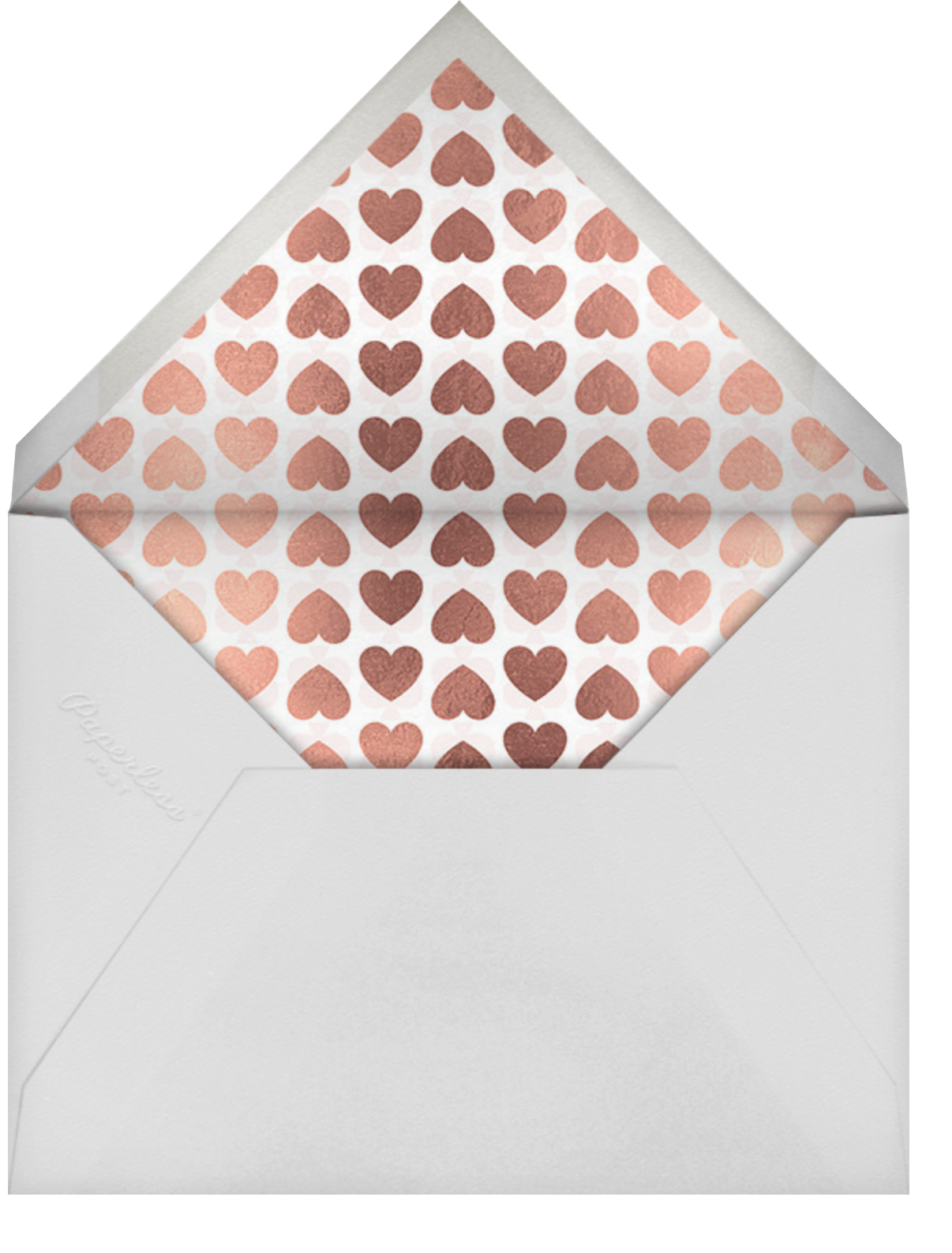 Fallen In Love - White - kate spade new york - Engagement party - envelope back