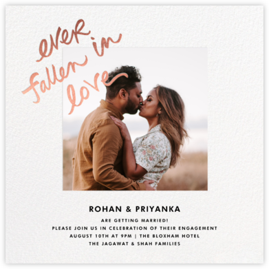 Fallen In Love - White - kate spade new york - Engagement party invitations