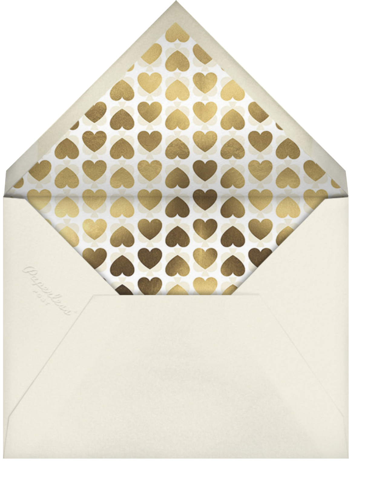 Fallen In Love - Pavlova - kate spade new york - Engagement party - envelope back