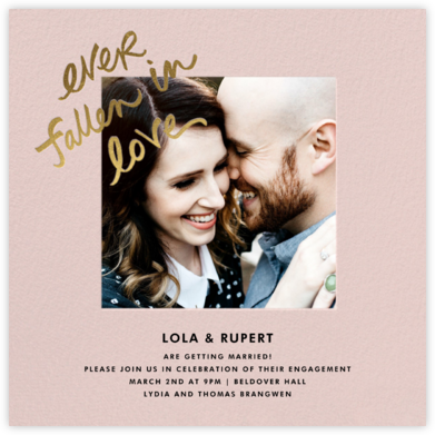 Fallen In Love - Pavlova - kate spade new york - Engagement party invitations