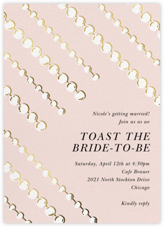 Mom's Pearls - Meringue - kate spade new york - Kate Spade invitations, save the dates, and cards