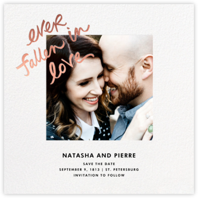Fallen In Love - White - kate spade new york - Photo save the dates