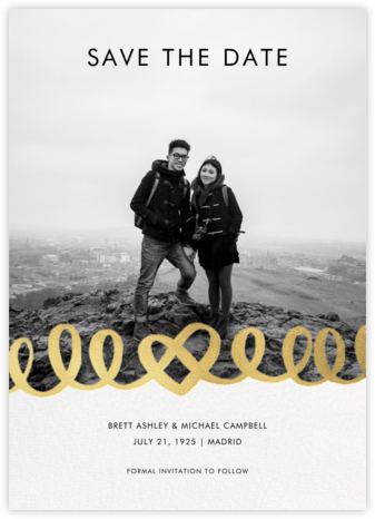 Love Doodle - Gold - kate spade new york - Photo save the dates