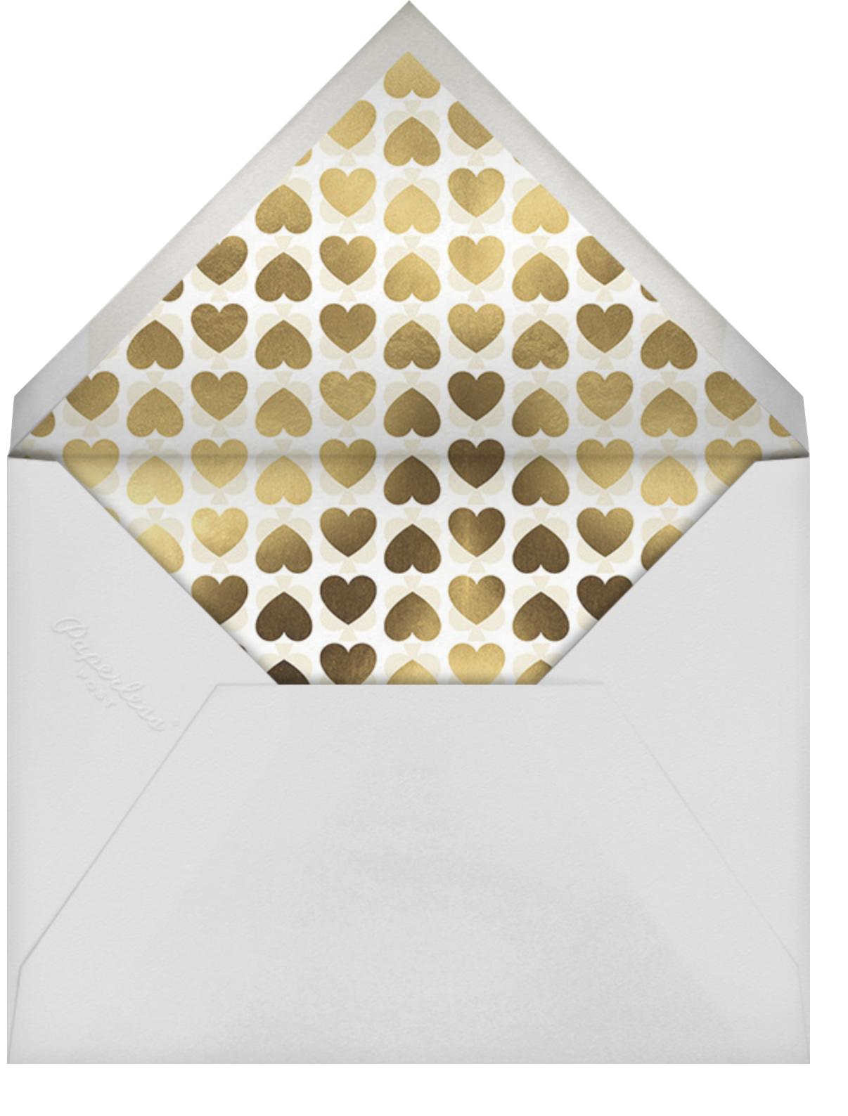 Love Doodle - Gold - kate spade new york - Engagement party - envelope back