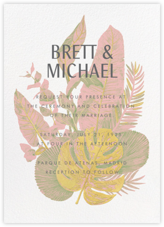 Tropics (Invitation) - Pavlova - Paperless Post - Wedding Invitations