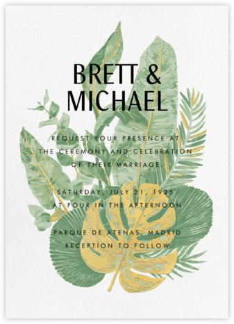 Tropics (Invitation) - Samphire - Paperless Post - Destination wedding invitations