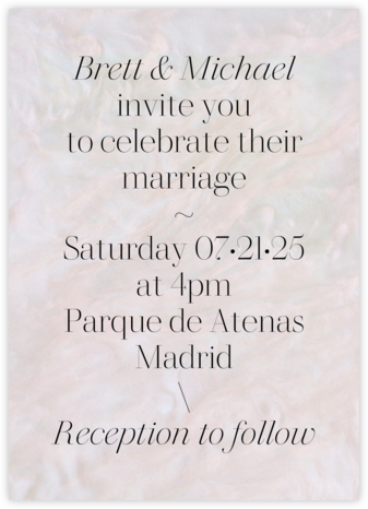 Pearlescent (Invitation) - Paperless Post - Modern wedding invitations