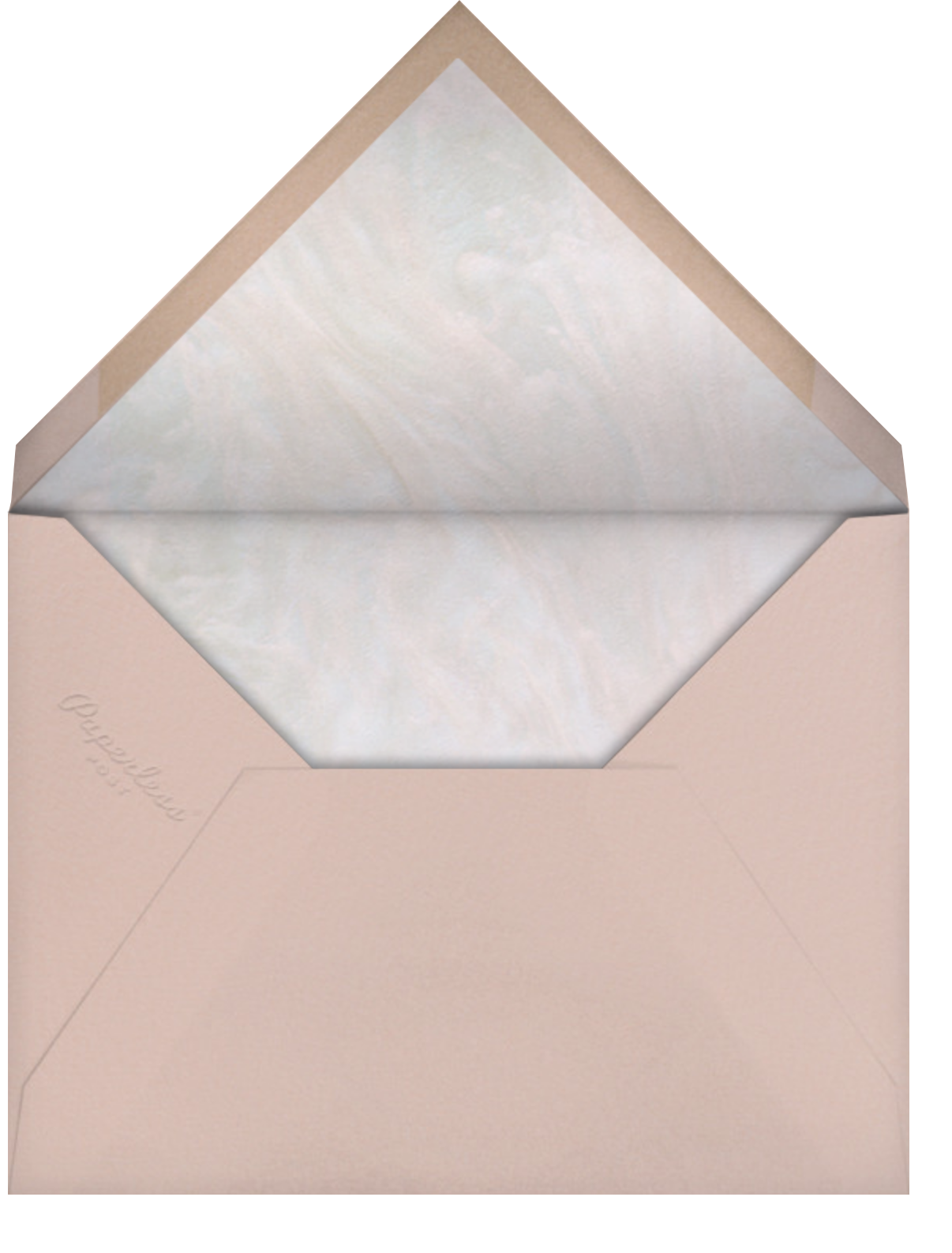 Pearlescent  - Paperless Post - Save the date - envelope back