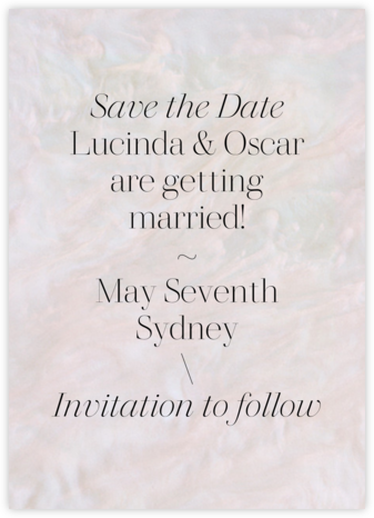 Pearlescent  - Paperless Post - Save the dates