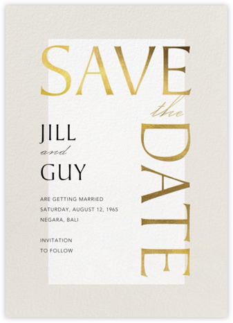 Heritage - Paperless Post - Modern save the dates