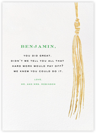 Tassel - Gold - kate spade new york - Online Greeting Cards