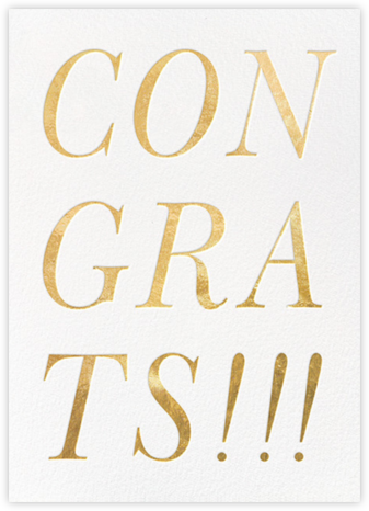 Gold Congrats  - kate spade new york - Graduation