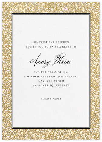 Naive Wave - Gold - Paperless Post - Celebration invitations