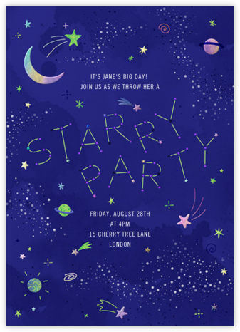 Intergalactic - Paperless Post - Online Kids' Birthday Invitations