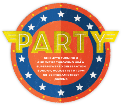 Heroes Only - Paperless Post - Kids' birthday invitations