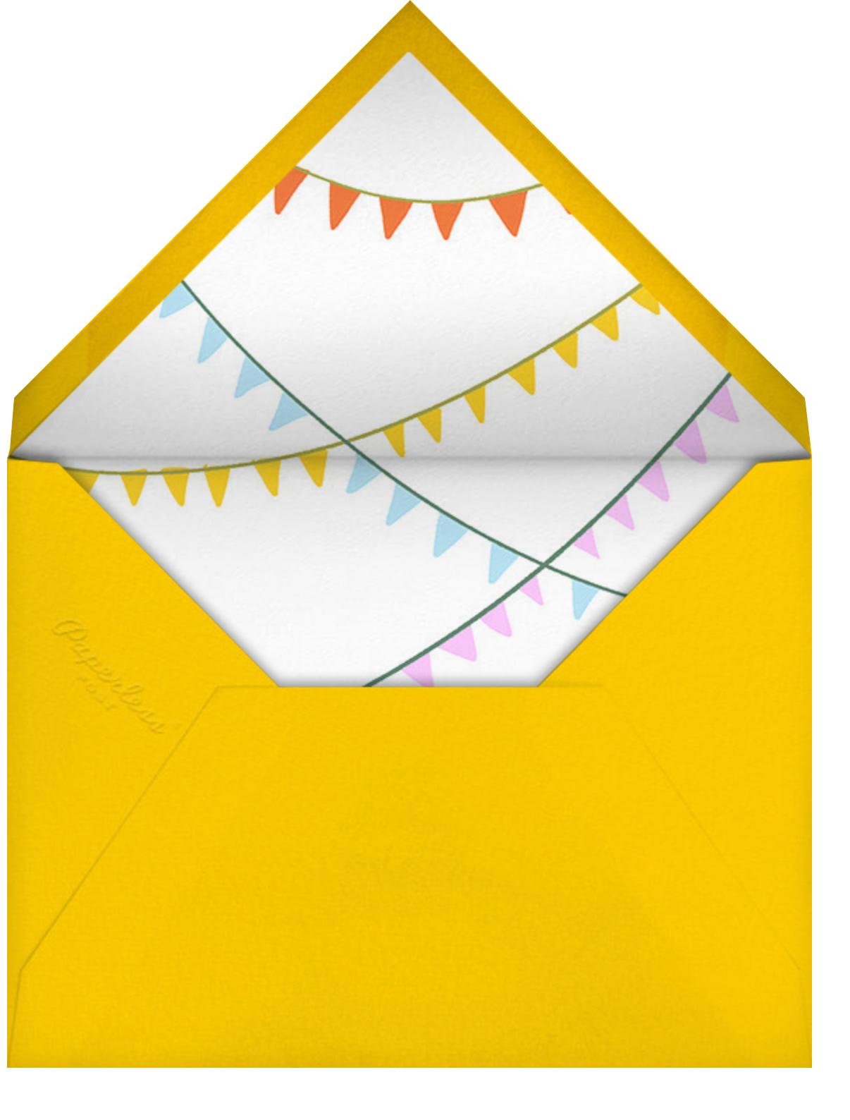 Dino Table - Paperless Post - Kids' birthday - envelope back