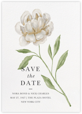 Farmhouse Flower - Paperless Post - Save the dates